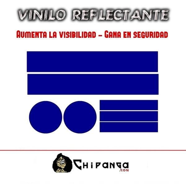Pegatinas Vinilo Azul Reflectante