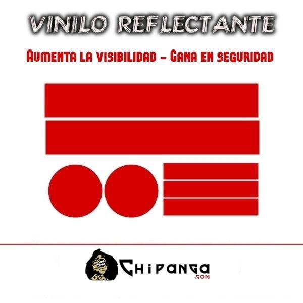 Pegatinas Vinilo Rojo Reflectante