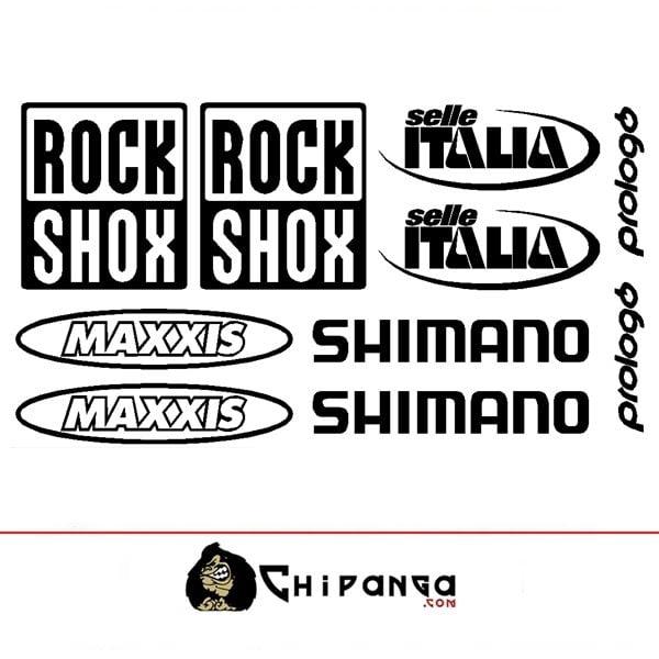 Pegatinas RockShox Maxxis Shimano k