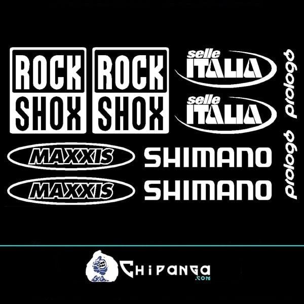 Pegatinas RockShox Maxxis Shimano
