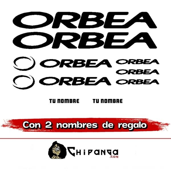 Kit Pegatinas Orbea con nombre