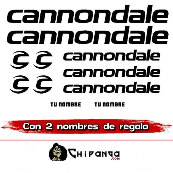 Kit Pegatinas Cannondale nombre
