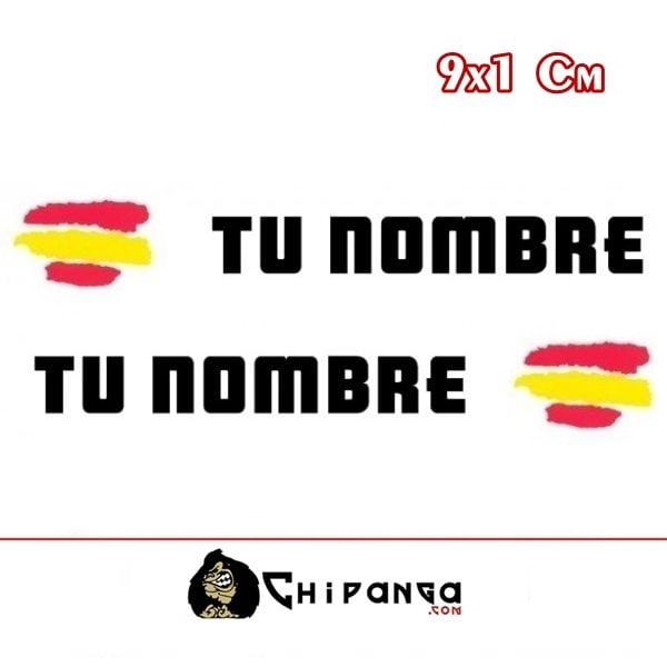Pegatinas nombre con bandera españa