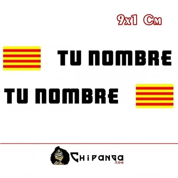 Pegatina nombre con bandera catalunya