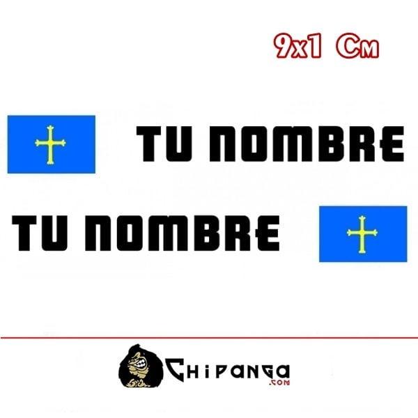 Pegatina nombre bandera asturias