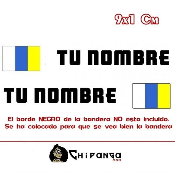 Pegatina Nombre Bandera Canaria