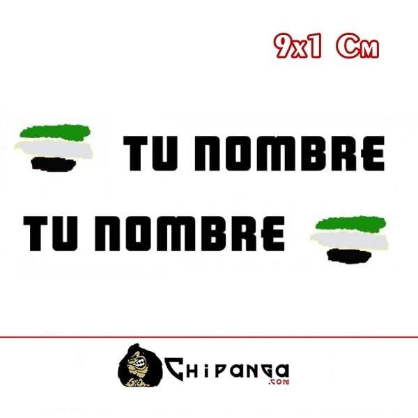 Pegatinas Nombre con Bandera Extremadura