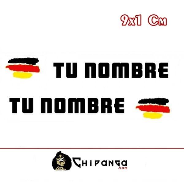 Pegatinas Nombre con Bandera Alemania Pincelada