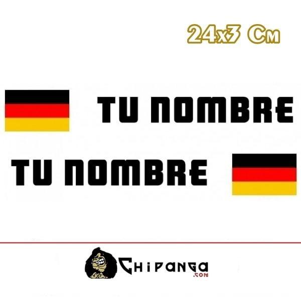 Pegatina Nombre con Bandera Alemania R