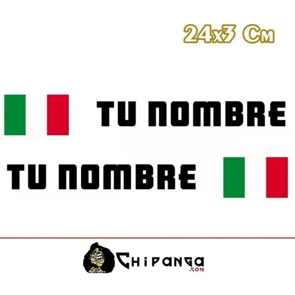 Pegatina nombre con bandera italia