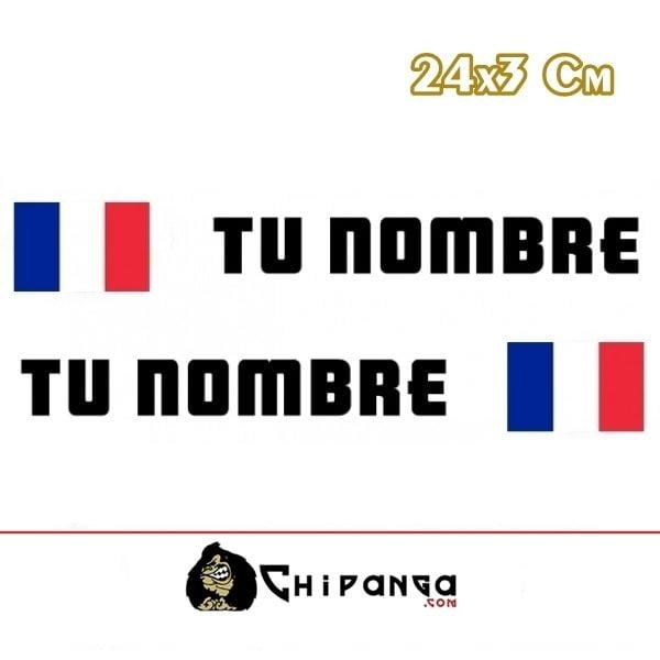 Pegatina nombre con bandera francia 24