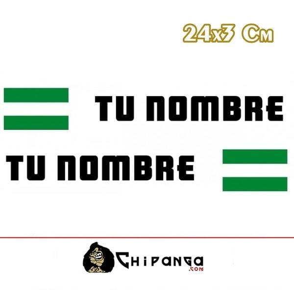 Pegatina nombre con bandera andalucia 24 r