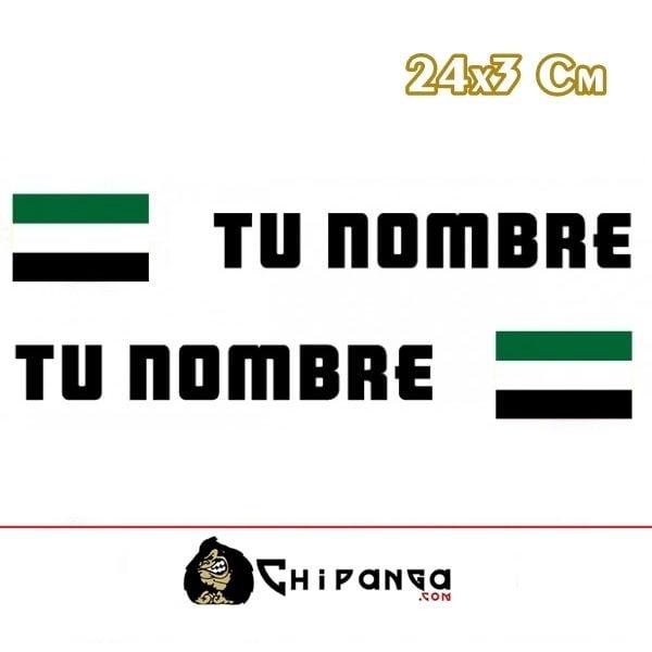 Pegatina nombre con bandera extremadura 24 r