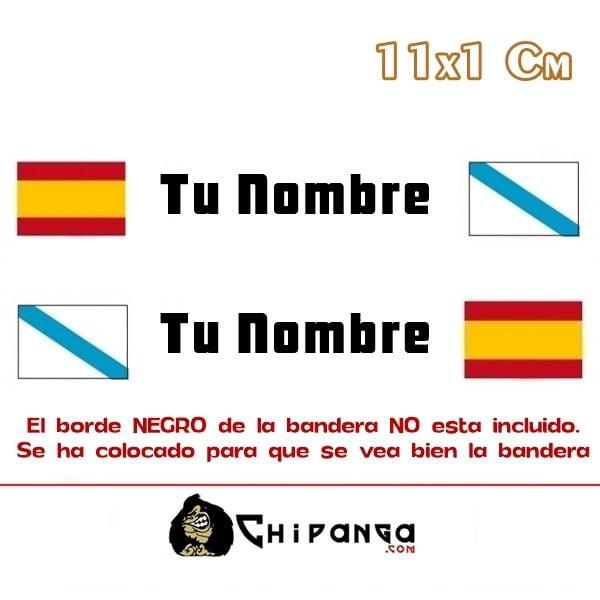 pegatina nombre con bandera españa y galicia
