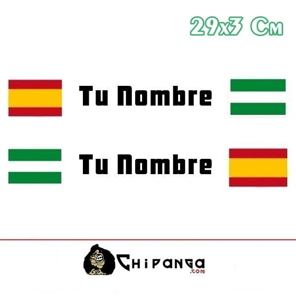 Pegatina Nombre Bandera Rally España y Andalucia