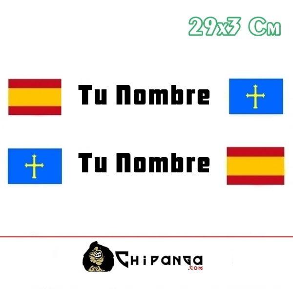 Pegatina Nombre Bandera Rally España y Asturias