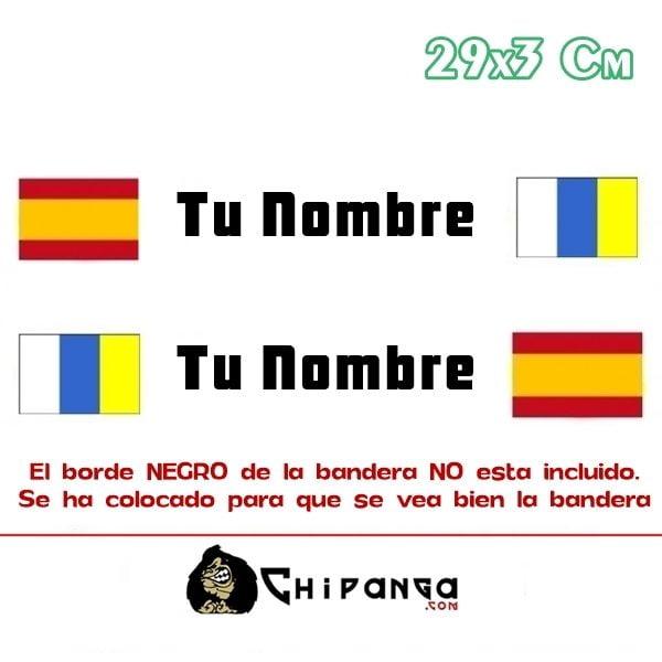 Pegatina Nombre Bandera Rally España y Canarias