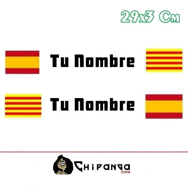 Pegatina Nombre Bandera Rally España y Cataluña