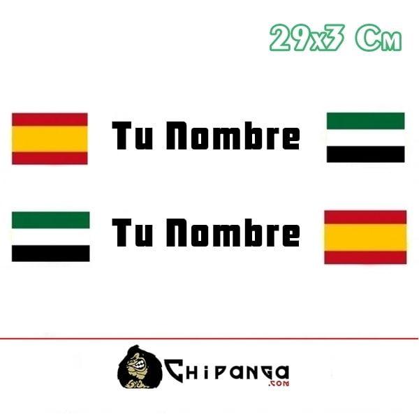 Pegatina Nombre Bandera Rally España y Extremadura