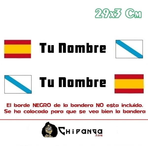 Pegatina Nombre Bandera Rally España y galicia