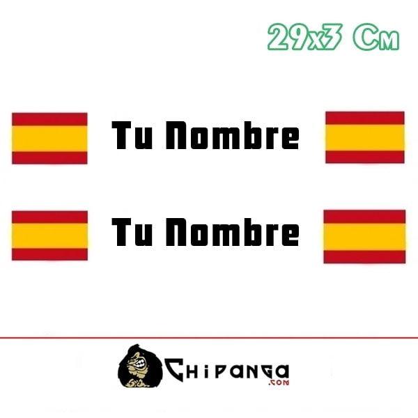 Pegatina Nombre Bandera Rally España