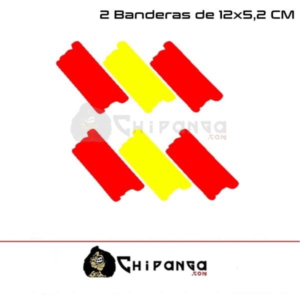 Pegatinas Bandera España 12 Cm