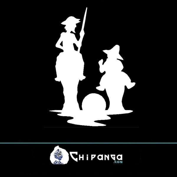 Pegatina Don quijote y sancho panza n