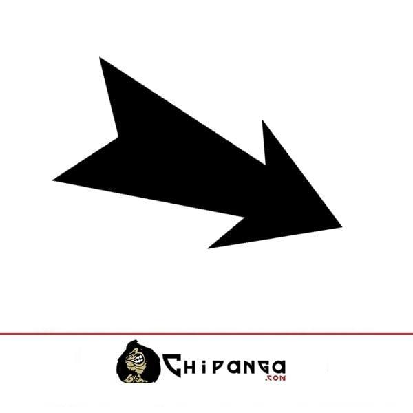 Pegatina flecha gancho 1