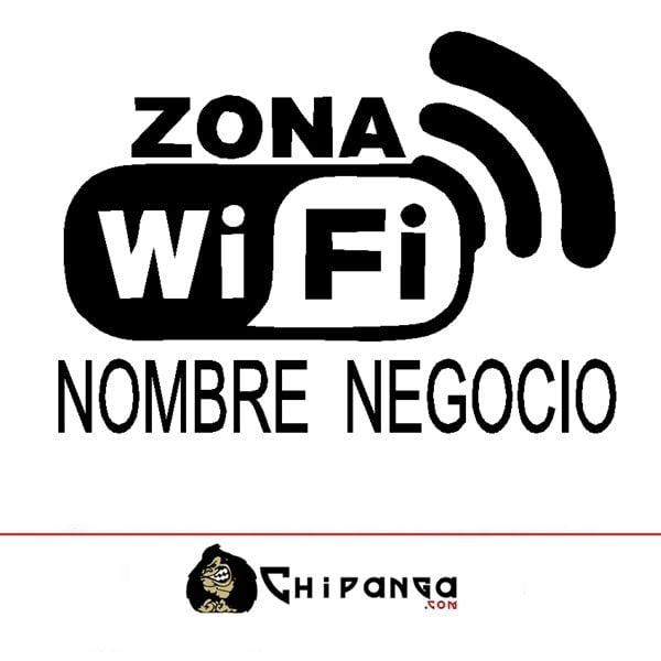Cartel Zona WiFi personalizado