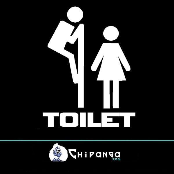 Vinilo Toilet Asomandose n