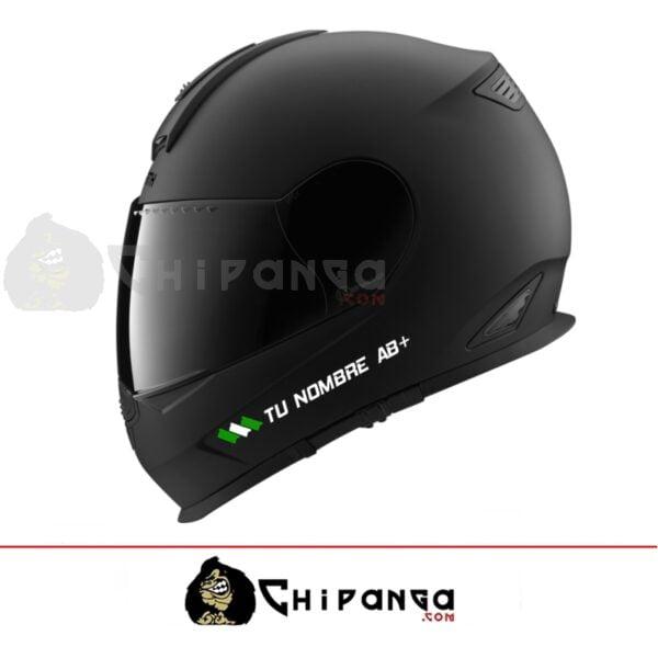 Pegatina nombre con bandera andalucia para casco