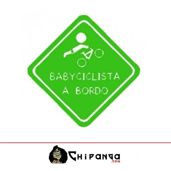pegatina baby ciclista