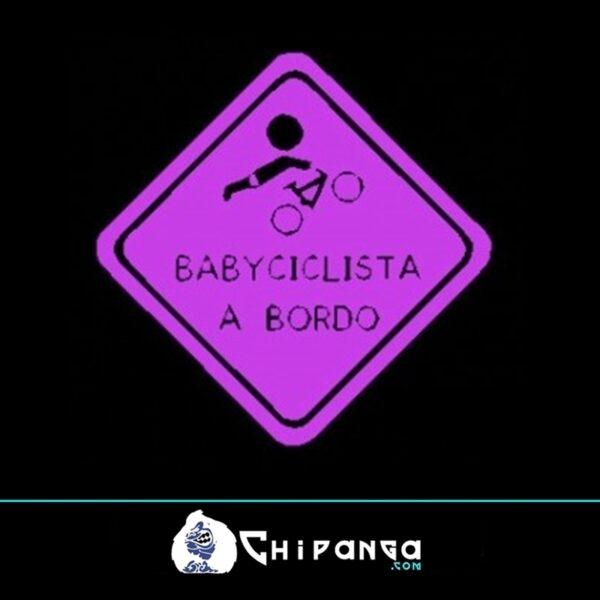 pegatina baby ciclista n