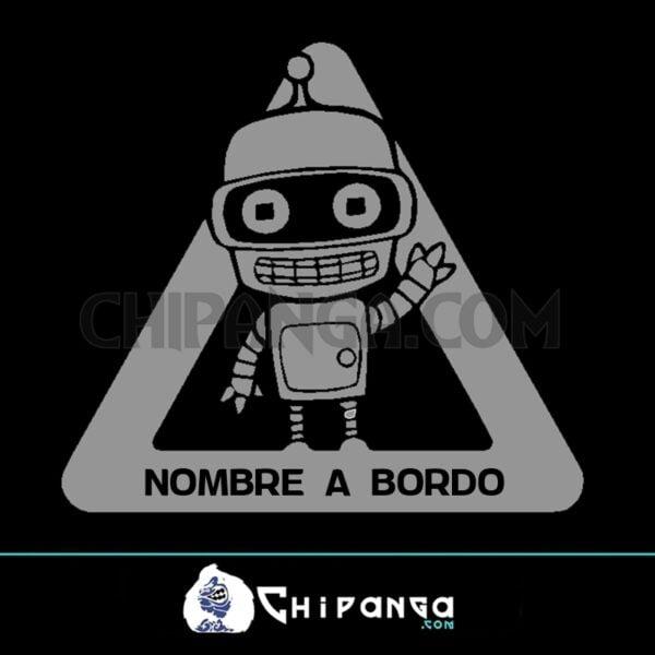 Pegatina a bordo nombre personalizado Bender Futurama n