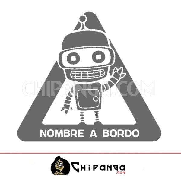 Pegatina a bordo nombre personalizado Bender Futurama