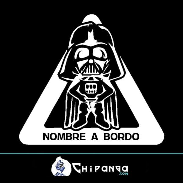 Pegatina a bordo personalizada con nombre Darth Vader Star Wars n