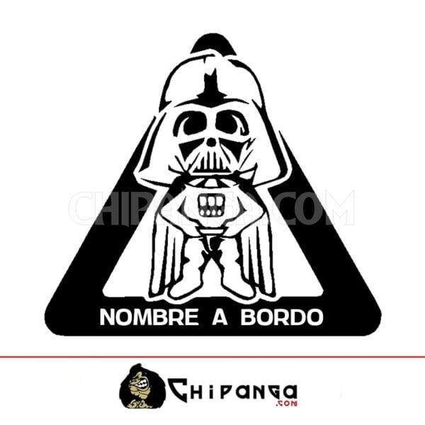 Pegatina a bordo personalizada con nombre Darth Vader Star Wars