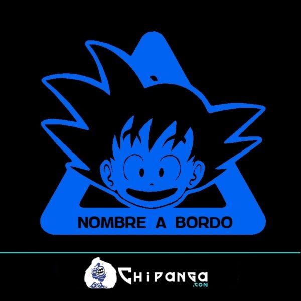 Pegatina a bordo nombre personalizado Goku Dragon Ball n