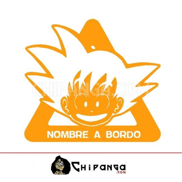 Pegatina a bordo nombre personalizado Goku Dragon Ball