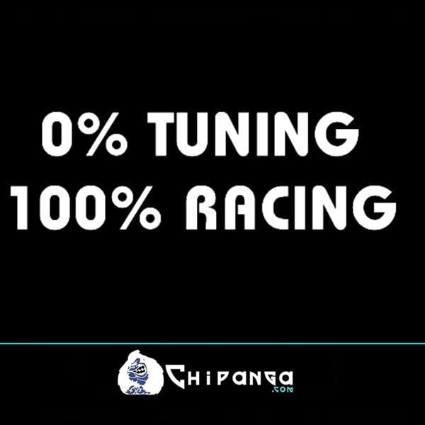 Pegatina para coche frase 0% Tunning 100% Racing n