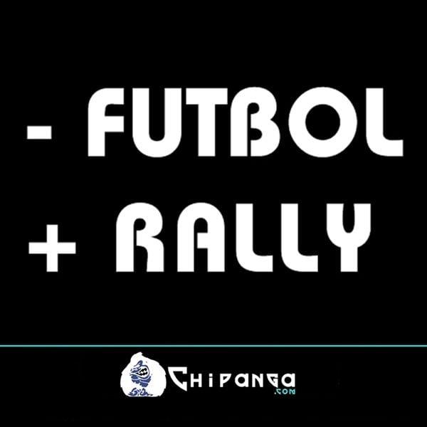 Pegatina para coche frase Menos - futbol mas + rally n