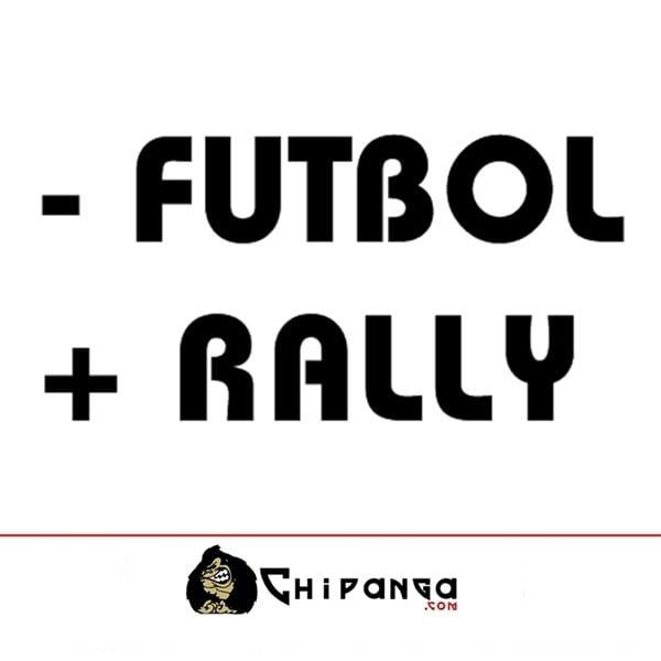 Pegatina para coche frase Menos - futbol mas + rally
