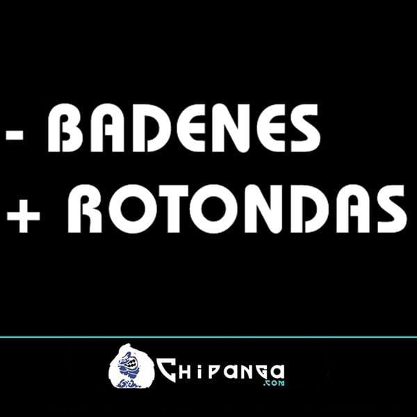 Pegatina para coche frase Menos - badenes mas + rotondas n