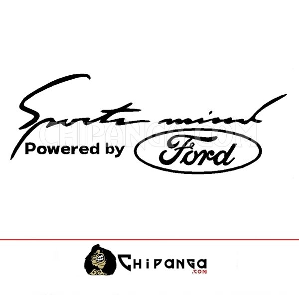 Pegatina Sport Mind powered by Ford