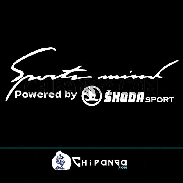 Pegatina Sport Mind powered by Skoda n