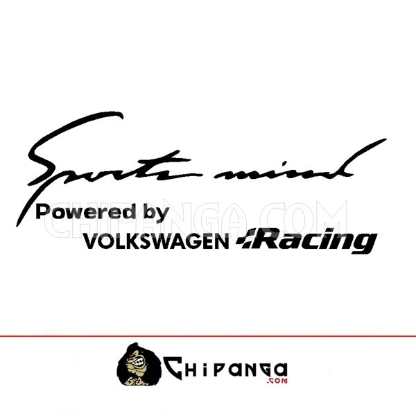 Pegatina Sport Mind powered by Volkswagen Racing