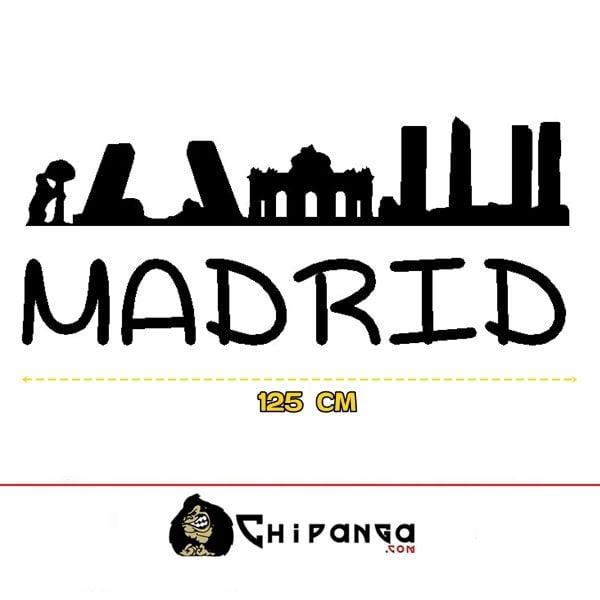 Vinilo Decorativo Pared Skyline Edificios Madrid