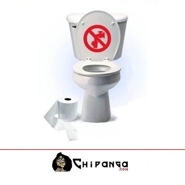 Vinilo Cisterna WC Tapa Prohibido Beber