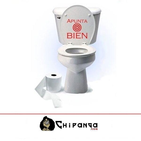 Vinilo Cisterna WC Tapa Apunta Bien Diana