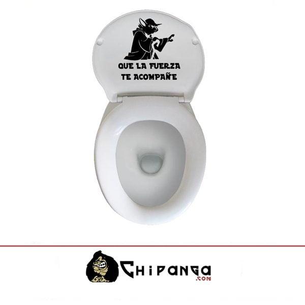 Vinilo Cisterna WC Tapa Que la Fuerza te acompañe Star Wars Yoda